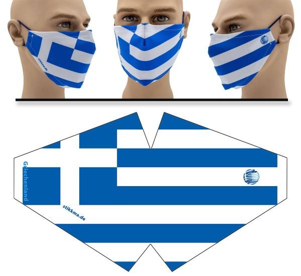 Griechenland - Face Pad Premium - Mund Nasen Behelfsmaske
