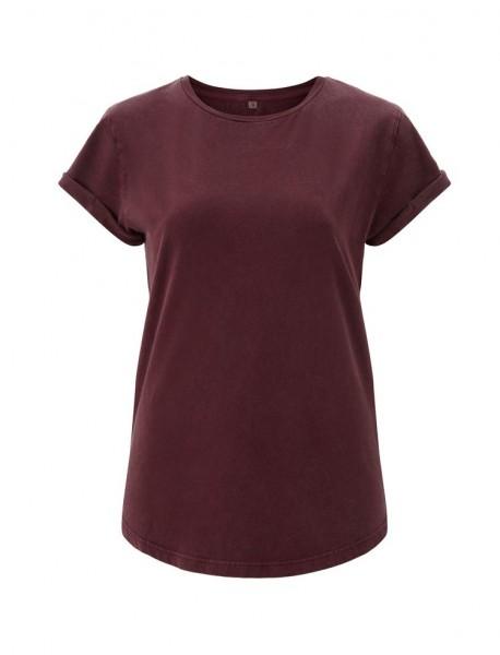 Ladies Bio-Shirt mit Rollärmeln