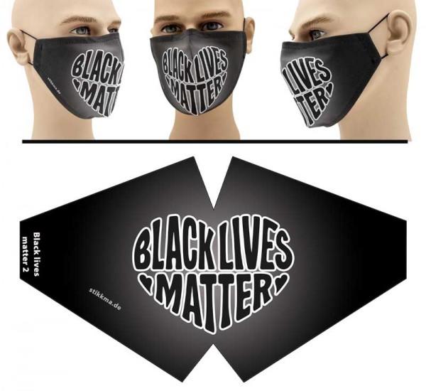Black Lives Matter 2 - Face Pad Premium - Mund Nasen Behelfsmaske