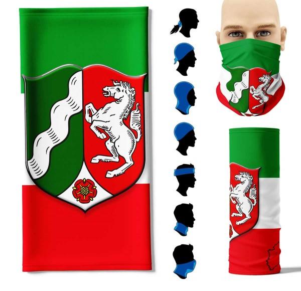 "Multifunktionstuch ""Nordrhein-Westfalen Flagge"" Face Pad+"