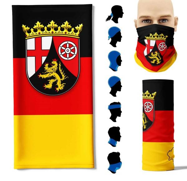 """Multifunktionstuch """"Rheinland-Pfalz Flagge"""" Face Pad+"""