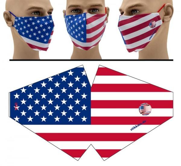 USA - Face Pad Premium - Mund Nasen Behelfsmaske