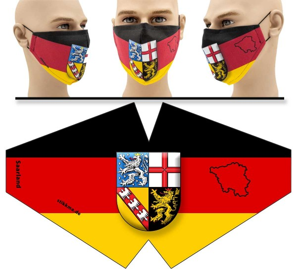 "Mund Nasen Behelfsmaske ""Saarland"" Face Pad"