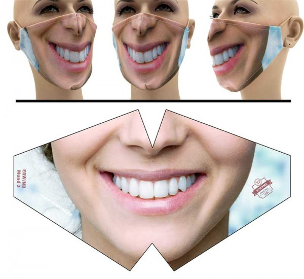 Mund 2 - Face Pad Premium - Mund Nasen Behelfsmaske