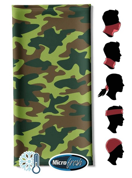 """Multifunktionstuch Face Pad++ """"Camo Military"""""""