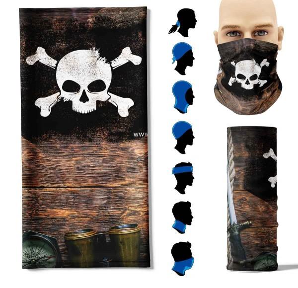 Multifunktionstuch Pirat Face Pad+