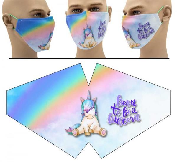 Suesses Einhorn - Face Pad Premium - Mund Nasen Behelfsmaske