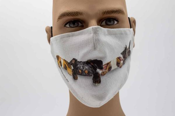 versteckende Hunde - Face Pad Premium - Mund- Nasen. Behelfsmaske