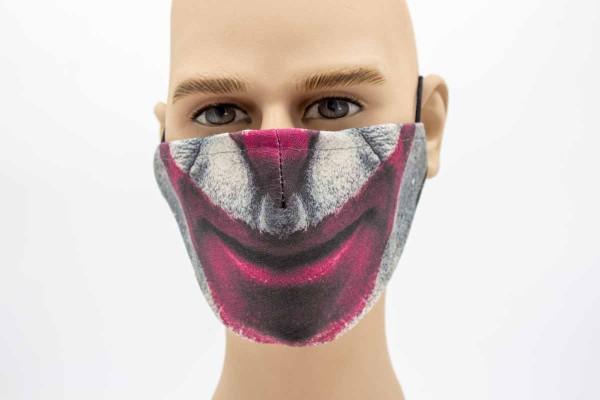 Gesichtsmaske - Face Pad Clown Mund- Nasen. Behelfsmaske