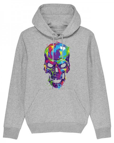 Bio Hoodie Colorfull Skull