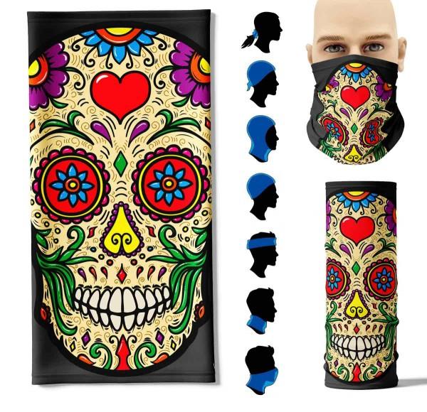 Multifunktionstuch Mexikanischer Totenkopf Face Pad+