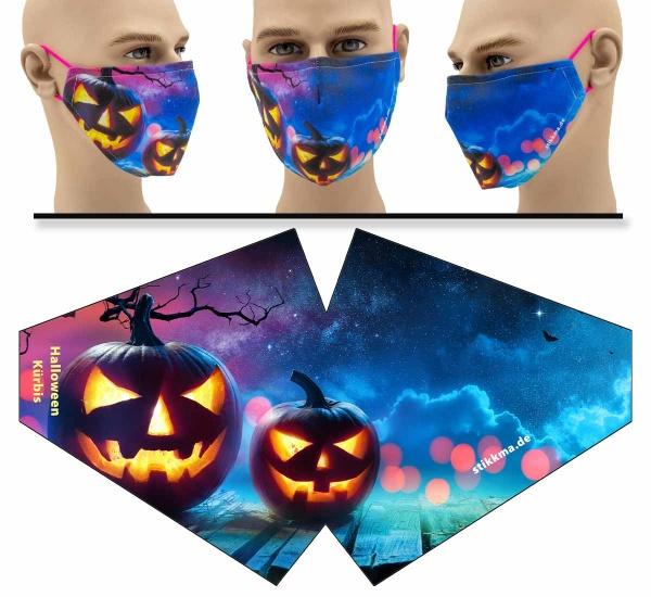 "Mund Nasen Behelfsmaske ""Halloween Kürbis"" Face Pad"