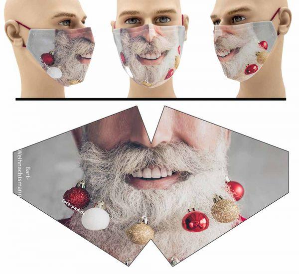 Weihnachtsmannbart - Face Pad Premium - Mund Nasen Behelfsmaske