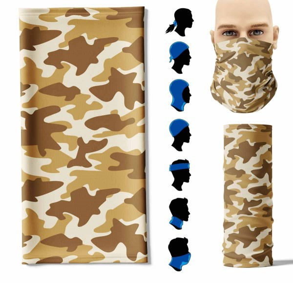 Multifunktionstuch Camouflage Wüste Face Pad+
