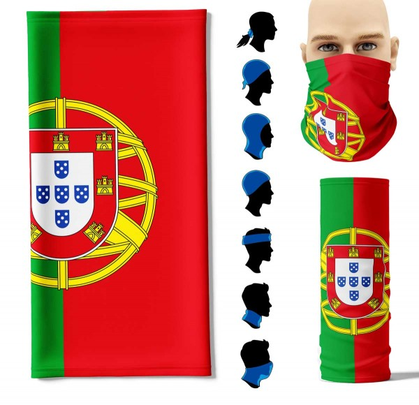 Multifunktionstuch Portugal Face Pad+