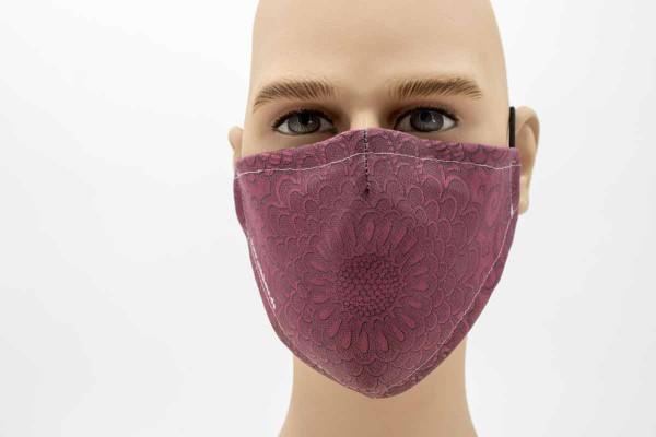 Gesichtsmaske - Face Pad Pattern Rot Mund- Nasen. Behelfsmaske