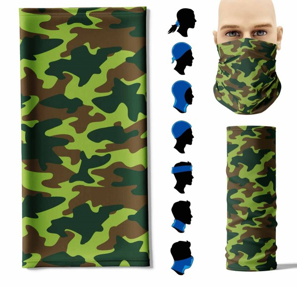 Multifunktionstuch Camouflage Military Face Pad+