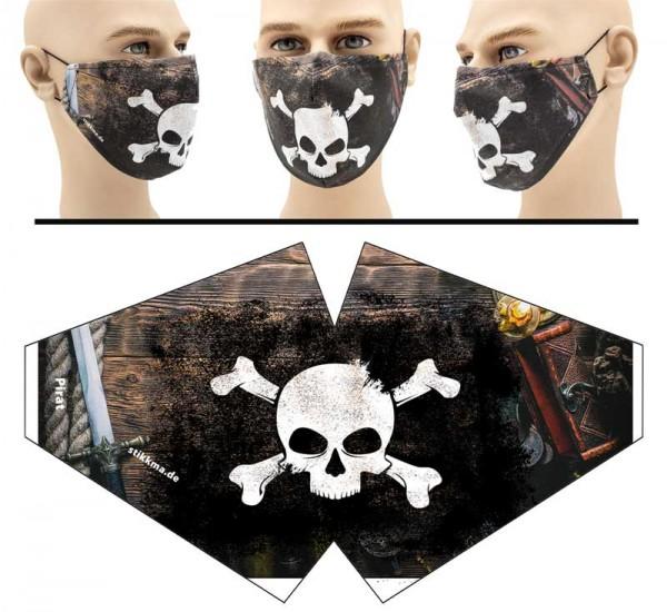 Pirat - Face Pad Premium - Mund Nasen Behelfsmaske