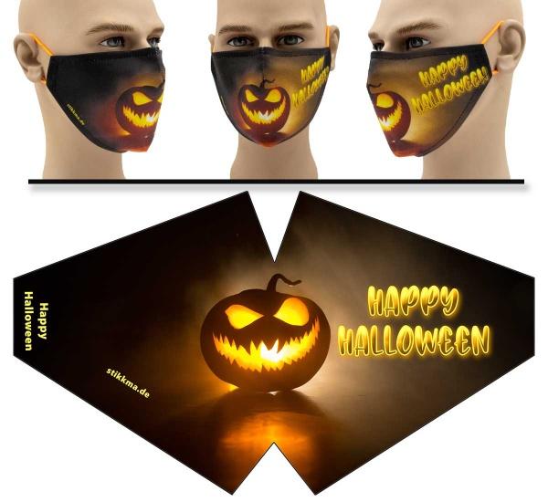 """Mund Nasen Behelfsmaske """"Happy Halloween"""" Face Pad"""