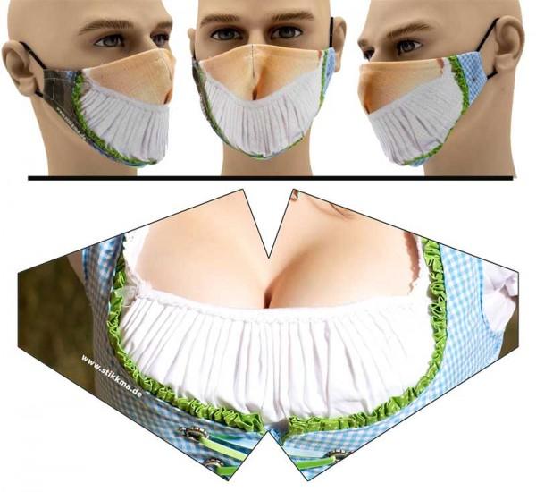 Bayrisches Dekolte - Face Pad Premium - Mund Nasen Behelfsmaske