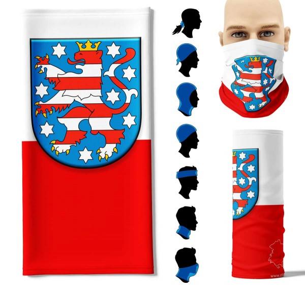 """Multifunktionstuch """"Thüringen Flagge"""" Face Pad+"""