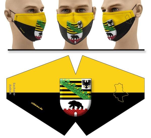 Sachsen-Anhalt - Face Pad - Mund Nasen Behelfsmaske