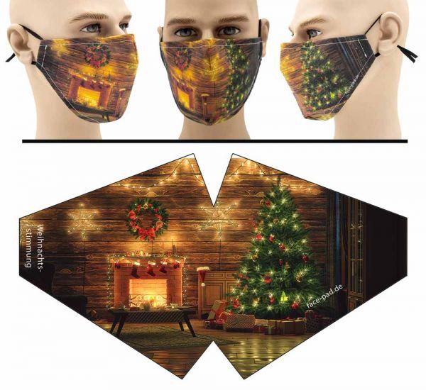 """Mund Nasen Behelfsmaske """"Weihnachtsstimmung"""" Face Pad"""