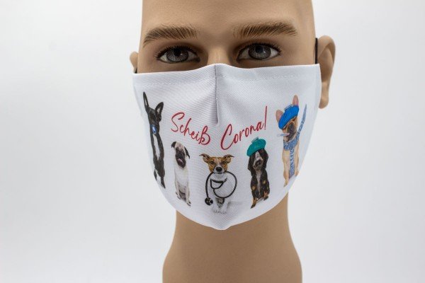 Scheiss Corona - Face Pad Premium - Mund- Nasen. Behelfsmaske