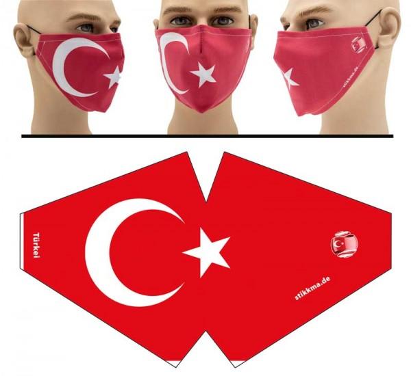 Türkei - Face Pad Premium - Mund Nasen Behelfsmaske
