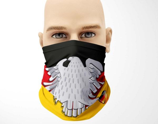 Multifunktionstuch Face Pad+ Deutschland Adler Mund- Nasen- Behelfsmaske Gesichtsmaske