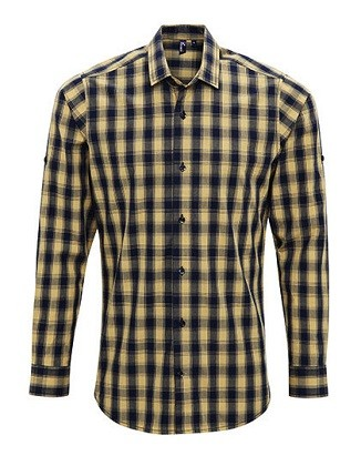 Hemd Men's Mulligan Check Cotton Long Sleeve