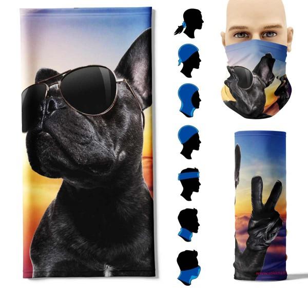 Multifunktionstuch cooler Hund Face Pad+