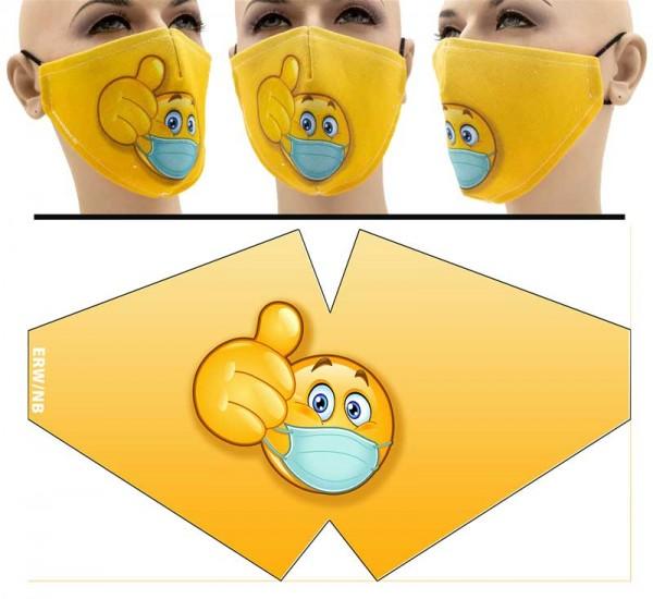 Smiley - Face Pad Premium - Mund Nasen Behelfsmaske