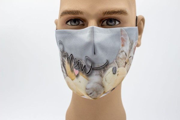 Gesichtsmaske - Face Pad Meow Mund- Nasen. Behelfsmaske