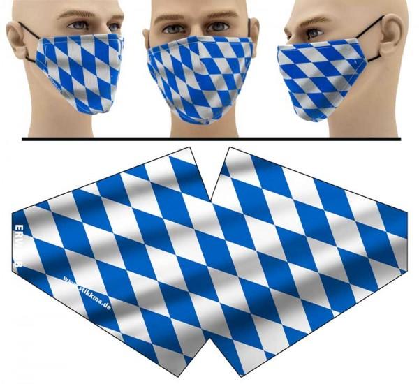 Bayrische Rauten - Face Pad Premium - Mund Nasen Behelfsmaske
