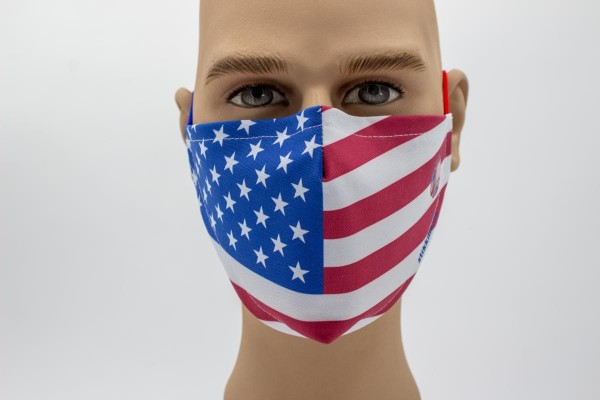 Gesichtsmaske - Face Pad USA Mund- Nasen. Behelfsmaske