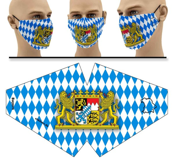 Bayern - Face Pad - Mund Nasen Behelfsmaske