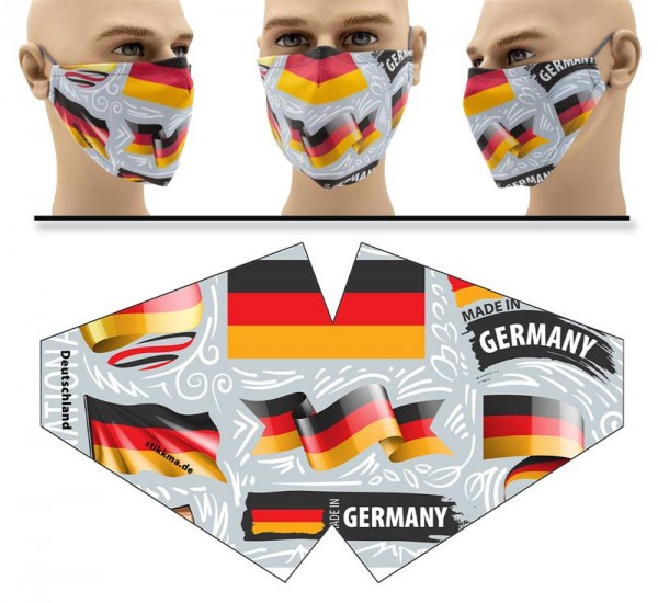 Deutschland kreativ - Face Pad Premium - Mund Nasen Behelfsmaske