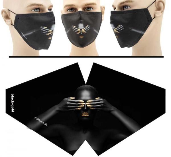 Black Gold - Face Pad Premium - Mund Nasen Behelfsmaske