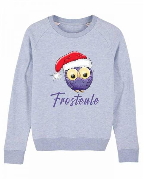 Damen Bio Sweatshirt Weihnachts-Frosteule