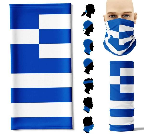 Multifunktionstuch Griechenland Face Pad+