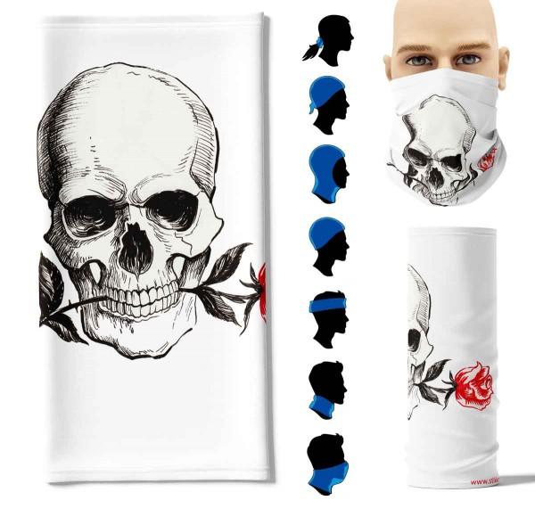 Multifunktionstuch Rose Skull Face Pad+