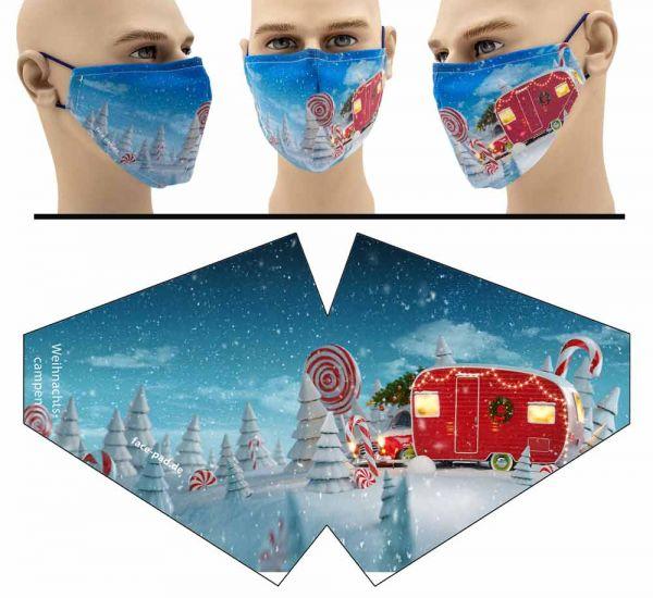 """Mund Nasen Behelfsmaske """"Weihnachtscampen"""" Face Pad-Copy"""