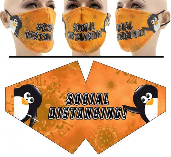 Social Distancing - Face Pad Premium - Mund Nasen Behelfsmaske