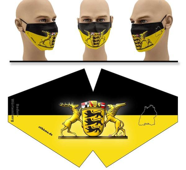 Baden Württemberg - Face Pad - Mund Nasen Behelfsmaske