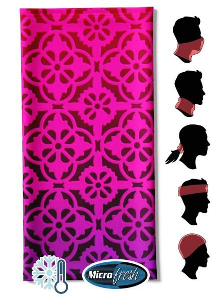 "Multifunktionstuch Face Pad++ ""Arabesco Pink"""