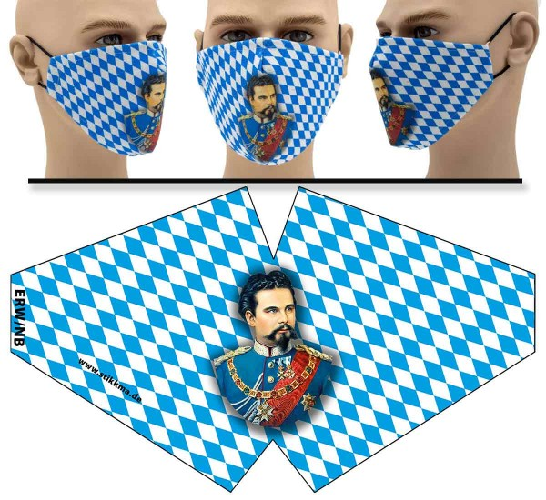 König Ludwig - Face Pad - Mund Nasen Behelfsmaske