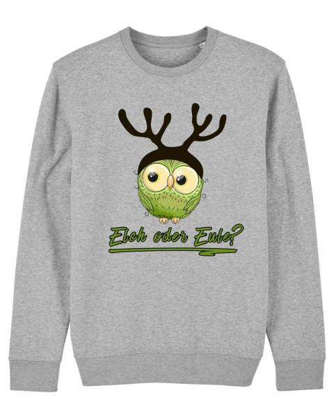 Unisex Bio Sweatshirt Elch oder Eule