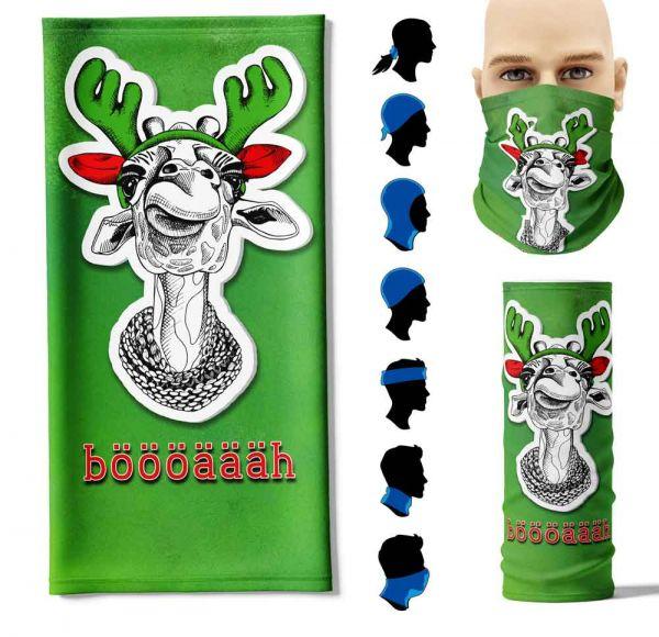 """Multifunktionstuch """"Weihnachtsgiraffe"""" Face Pad+"""