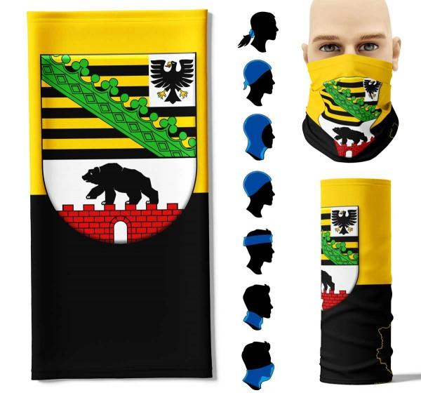 "Multifunktionstuch ""Sachsen-Anhalt Flagge"" Face Pad+"